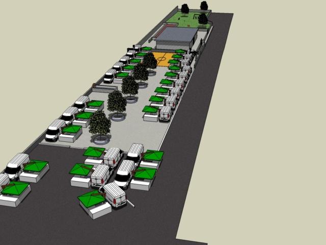 Progetto Riqualificazione Piazza del Mercato zona Castelverde